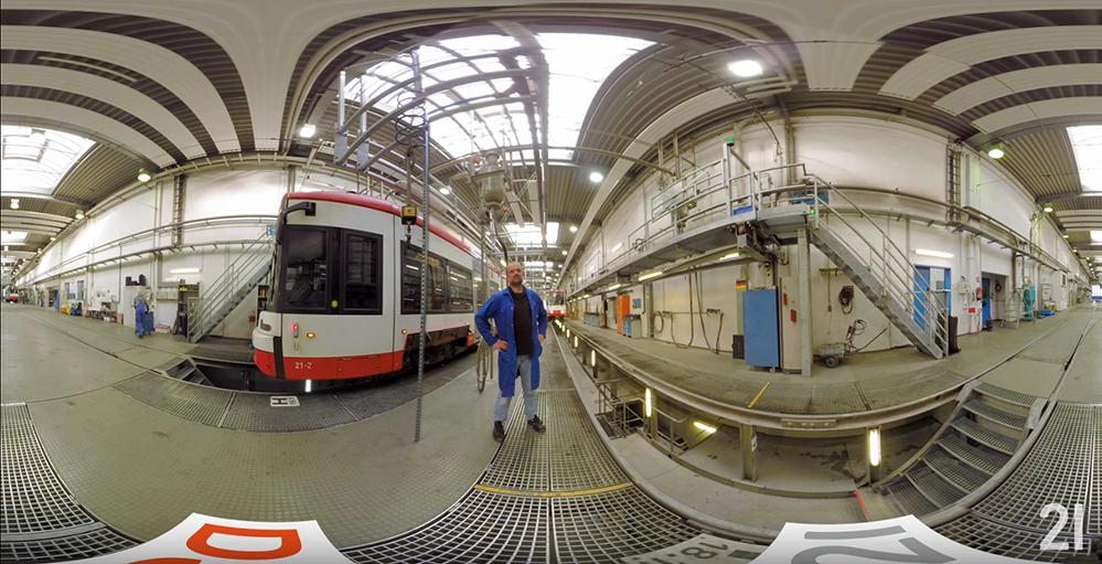 Mit 360°-Filmen geben die Stadtwerke Einblicke in nicht zugängliche Bereiche.