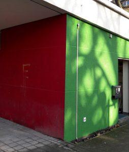 Bis Freitag ist das rot getilgt - dann wird der Grüne Salon auch seinem neuen Namen gerecht.