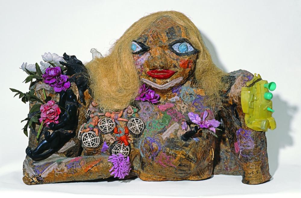 Marilyn, 1964. Objekte, Farbe, Wolle auf Maschendraht; Niki Charitable Art Foundation, Santee