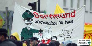"""""""Dortmund - Streichelzoo für Nazis"""" - die Reaktion der Antifa auf die Urteile war eindeutig."""