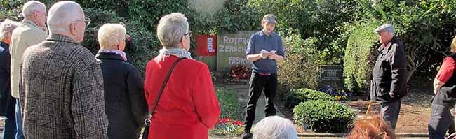 """""""Pünktlich"""" zur Gedenkfeier: Neonazis beschmieren Grab- und Gedenkstein auf dem Nordfriedhof in Dortmund"""