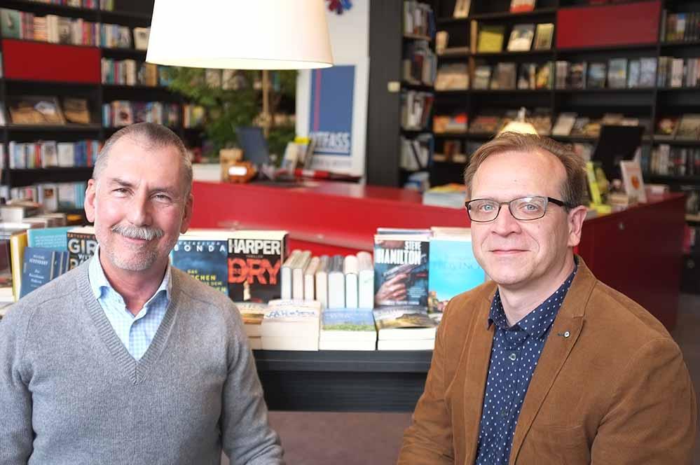 Haben die Übergabe gut hingekriegt: Wolfgang Thönes (l.) und Karsten Schulz arbeiten auch weiterhin zusammen.