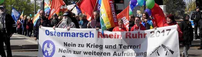 FOTOSTRECKE Ostermarsch Rhein-Ruhr beendet: Drei Tage im Zeichen des Friedens und des Antifaschismus
