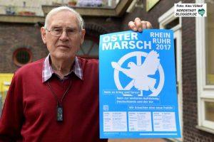 Willi Hoffmeister organisiert seit Jahrzehnten die Ostermarsch-Aktionen in Dortmund.