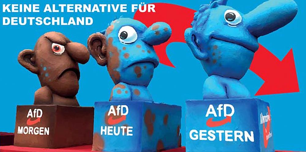 Die Ausstellung will Entwicklungen der AfD aufzeigen. Foto: Veranstalter