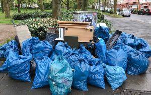 Mitglieder der Christuskirchengemeinde haben eine Müllsammelaktion gemacht.