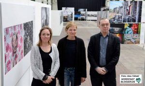 Suzan van den Berg, Claudia Schenk und Wolfgang Boedeker stellten die Dortmunder Ausstellung vor.