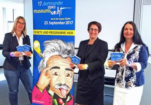 Dr. Dr. Elke Möllmann, Heike Heim, undKerstin Keller-Düsberg freuen sich auf die Museumsnacht. Foto: Joachim vom Brocke