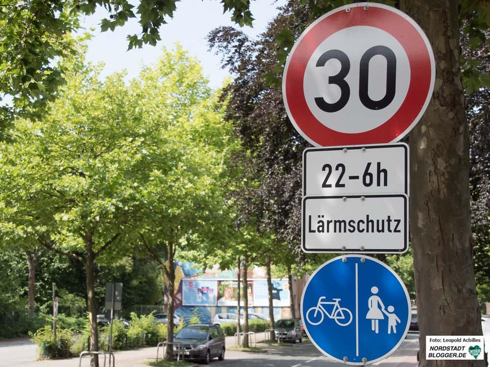 In der Immermannstraße gilt bisher nur nachtsTempo 30 - das ändert sich.