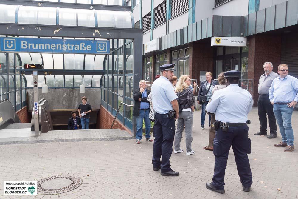 Start des Rundgangs war das Nordstadtbüro des Ordnungsamtes an der U-Bahn-Haltestelle Brunnenstraße.