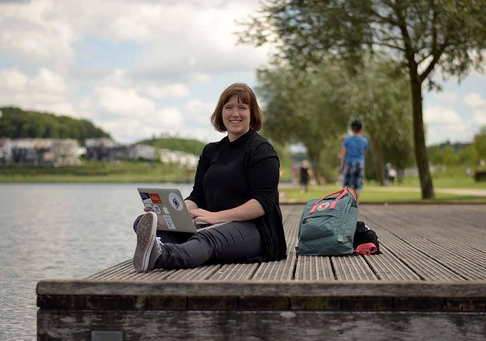 """Melanie Huber berichtet für """"stadt.land.text"""" aus Dortmund über die Kulturregion Ruhrgebiet. Fotos (3): Ole Steen"""