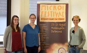 Stellten das Programm vor: Von rechts: Festivalleiterin Katrin Gellermann, Ilka Seuken, Katharina Weber. Foto: Ole Steen