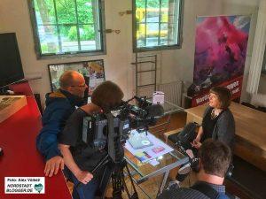 WDR dreht mit Melanie Huber bei den Nordstadtbloggern