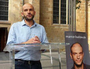 """Marco Bülow und Gesine Schwan standen zum Thema """"Sozialwende jetzt!"""" Rede und Antwort. Foto: Claus Stille"""