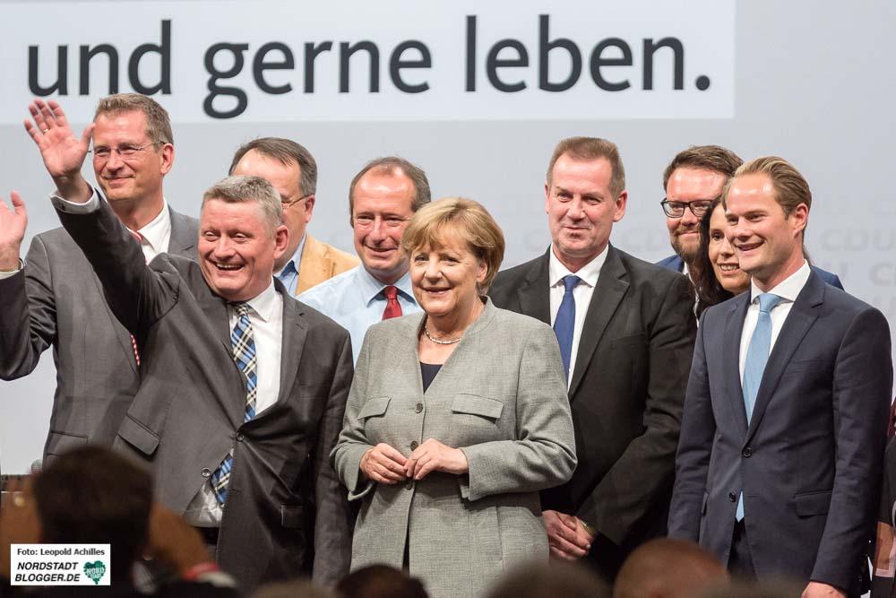 In der Westfalenhalle 2 startete die CDU ihren Wahlkampf. Fotos: Leopold Achilles