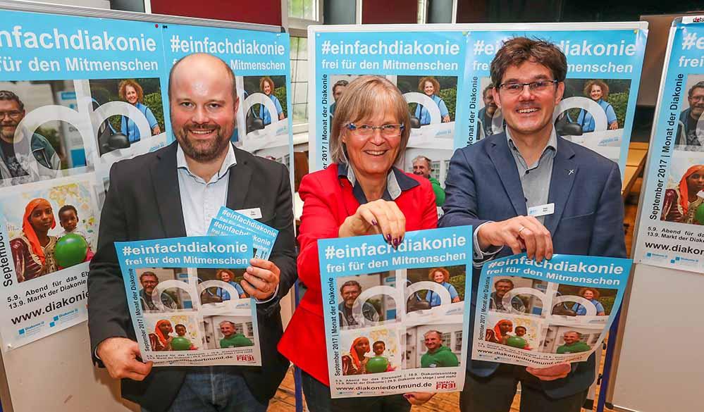 Tim Cocu, Anne Rabenschlag und Niels Back stellten das Programm vor. Foto: S. Schuetze