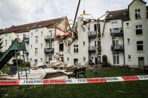 Bei der Gasexplosion wurde das komplette Obergeschoss des Hauses zerstört.