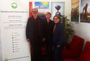 Stephan Becker, Tanja Hauptstock und Andrea Heydt vom ÖkoNetzwerk Dortmund