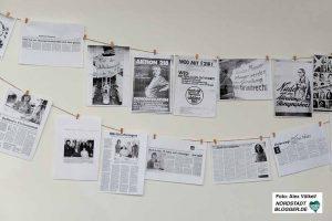 Berichterstattung aus 40 Jahren gaben Einblicke in die Arbeit der Beratungsstelle.
