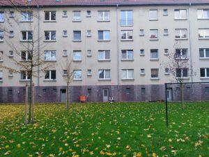 Innenhof Nordansicht der LEG Wohnungen Große Heimstraße