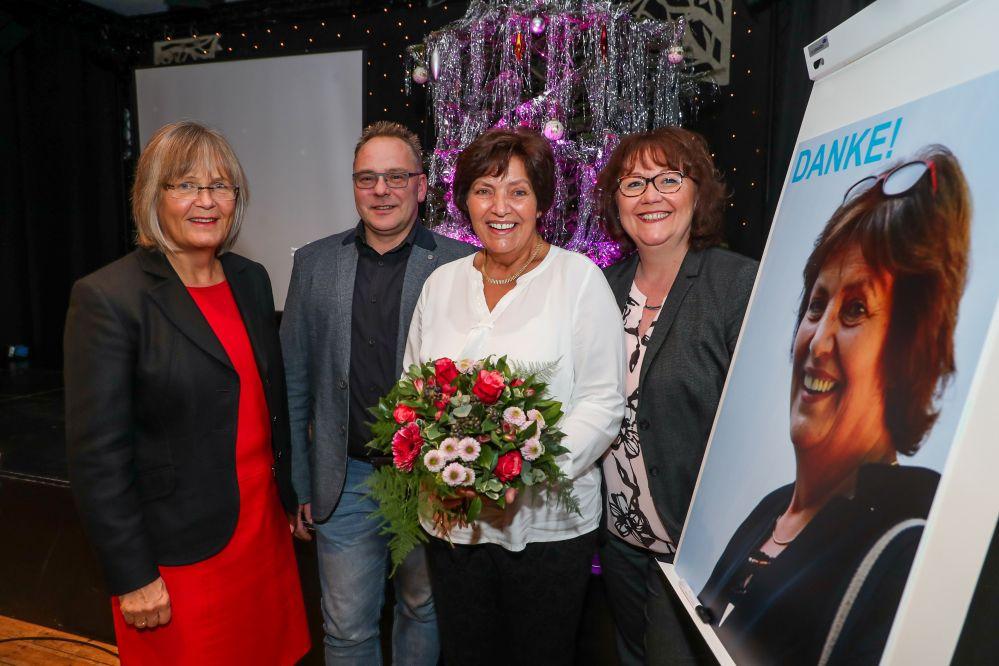 Abschied und Begrüßung Diakonie-Geschäftsführerin Anne Rabenschlag (v.l.) mit Thorsten Reinhardt, Birgit Kangowski und Birgit Knehans. Foto: DW/Schütze