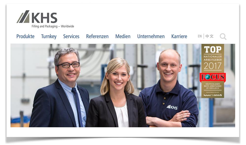 Auf der Homepage wirbt das Unternehmen mit der Auszeichnung TOP-Nationaler Arbeitgeber 2017. Foto: Screenshot
