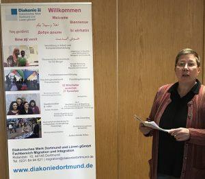 Sozialdezernentin der Stadt Dortmund, Birgit Zoerner während ihrer Grußworte. Foto Uta Schütte-Haermeyer
