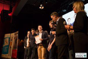 Team MotionMiners GmbH als 1. Preisträger vom start2grow Gründungswettbewerb.