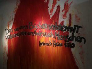 Zitat von Heinrich Heine als Mahnung