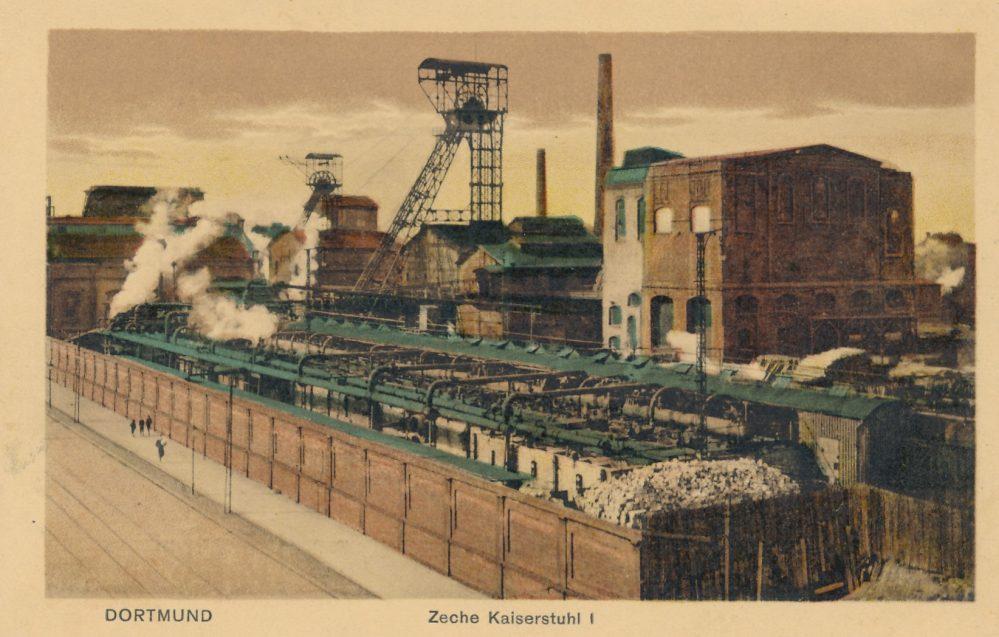 Zeche Kaiserstuhl, Schacht I, von der Bornstraße, 1920/25 (Sammlung Klaus Winter)