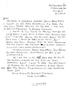 Mit handschriftlichen Briefen entschuldigte sich Larmer für die Luftangriffe.