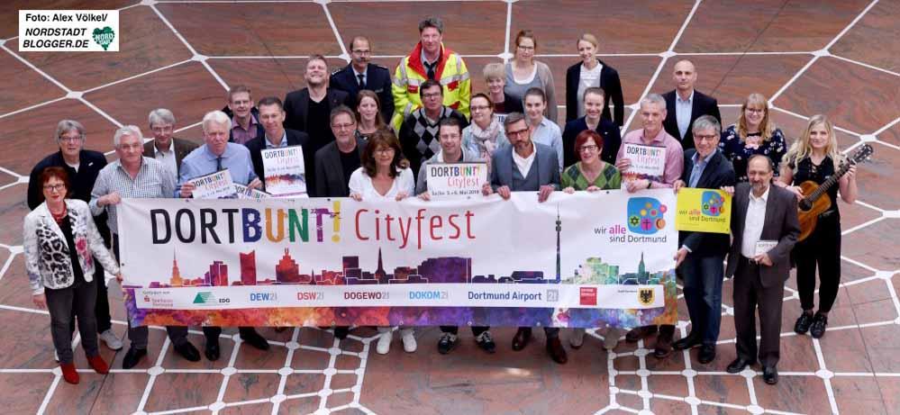 DIe OrganisatorInnen freuen sich auf das dritte DORTBUNT!-Cityfest. Foto: Alex Völkel