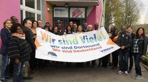Der Bundesverband Netzwerke von Migrantenorganisationen e.V. (BV NeMO) und dessen Mitglied VMDO (Verbund der sozialkulturellen Migrantenvereine in Dortmund e.V.)zeigen, wie vielfältig die Dortmunder Stadtgesellschaft ist. Foto: Moritz Makulla