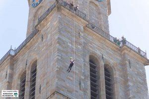 Die Kletterstation an der St.Reinoldi Kirche zog viele BesucherInnen an.